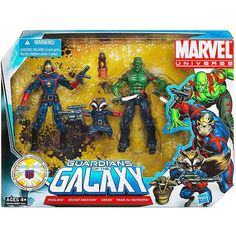 Marvel Universe Guardians of the Galaxy Drax the Destroyer Starlord Rocket Raccoon and Groot Set