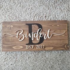 Last Name Sign Wedding Gift Family Name Sign Anniversary