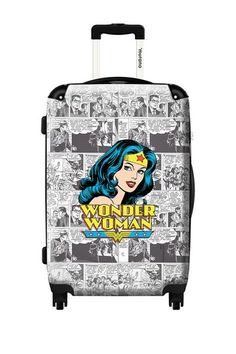 Woohoo!!! LOVE!! Wonder Woman Hard Case Luggage by ikase on @HauteLook