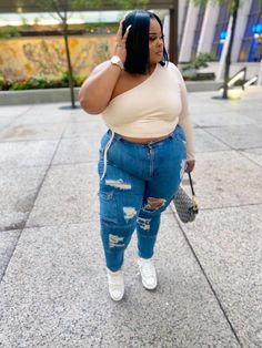 Thick Girls Outfits, Cute Outfits With Jeans, Curvy Girl Outfits, Looks Plus Size, Look Plus, Thick Girl Fashion, Curvy Women Fashion, Plus Size Fall Outfit, Plus Size Outfits