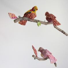 fabric bird mobile