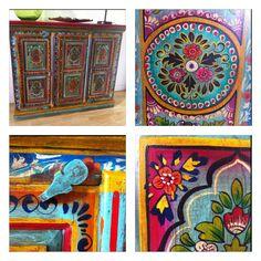 Muebles pintados a mano artesan a de la india cat logo - Armarios pintados a mano ...