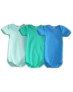 PETIT BATEAU ♥ 3 PACK SHORT SLEEV BODY, BLUE