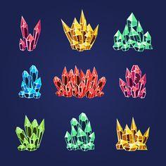 Magic Crystals Icons Textures  by TopVectors on @creativemarket