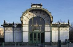 Vienna's Art Nouveau Architecture by Otto Wagner: Karlsplatz Stadtbahn Station, 1898-1900 http://architecture.about.com/od/greatbuildings/ss/Otto-Wagner-in-Vienna-Selected-Architecture.htm#step2