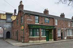 The old Coronation Street set in Manchester city centre which has become a tourist attraction