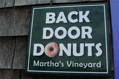 Famous Back Door Donuts Oak Bluffs, Martha's Vineyard
