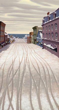 Downtown Snowy Street, Joel Parod