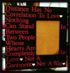 Military love frame