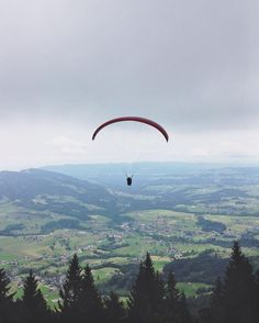Andelsbach, Austria // Today we drove to Austria to go paragliding there. That was SO MUCH fun! It was my second flight and I already know I wanna do it again. It's one of my favorite things to do. Just feels like sitting in a comfy seat and gliding through the sky. Pretty cool. Have you done it?