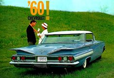 """The Dream: 1960 Chevrolet Impala. The loved car was such enjoyable with the both the """"Dream"""" and the size for car seats so even stretched out , any way we wanted !!"""