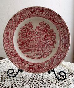 Memory Lane Dinner Plate 10 Royal Ironstone Royal by TwoArtisans