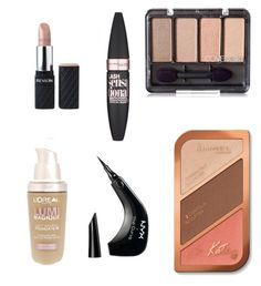 """Drugstore make up"" by elisalong23 on Polyvore featuring beauty, Maybelline, Rimmel, L'Oréal Paris and NYX"
