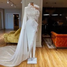 Elegant Pure Color Feather Dress xxl, Sexy Off-The-Shoulder Party Princess Sleeve Maxi Dress Party Gowns, Wedding Gowns, Party Dress, Dress First, The Dress, Feather Prom Dress, Evening Dresses, Prom Dresses, Sexy Dresses
