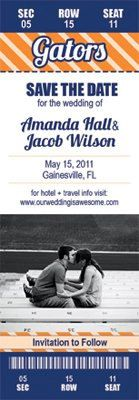 gator football save the date? yes, please!