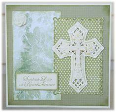 Spellbinders Crosses Two & Romantic Rectangles - Sympathy card - Kookaburra Crafts: April 2012