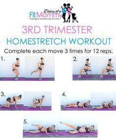 Diary of a Fit Mommy | 3rd Trimester Full Body Home Workout | http://diaryofafitmommy.com