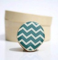 Deep Sea Chevron Cocktail Ring