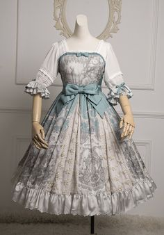 Cherry Bomb -Camille and Claude- Lolita OP Dress,Lolita Dresses, Pretty Outfits, Pretty Dresses, Beautiful Dresses, Cute Outfits, Emo Outfits, Kawaii Fashion, Lolita Fashion, Cute Fashion, Rock Fashion