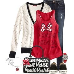 I need this tank and cardigan for Disneyland trips!