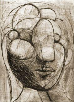 Sculpture, Head of Marie-Thérèse, 1933 - Picasso Pablo Picasso Sculptures, Pablo Picasso Drawings, Picasso Sketches, Kunst Picasso, Art Picasso, Picasso Paintings, Pablo Picasso Zeichnungen, Illustration, Art Moderne