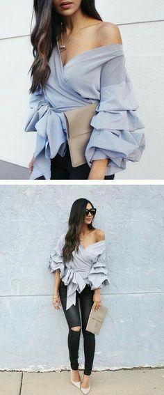 501bf3ae7ee88f 8 Best Bell Sleeves images   Bell sleeves, Bell sleeve blouse, Bell ...