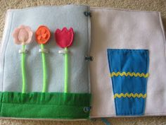 Little Inspirations: More Quiet Book Pages - Pick Flowers from the Garden to Fill a Vase