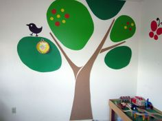 Cute wall for kids room