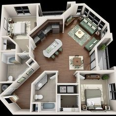 Your Guide to 4 bedroom apartments macon ga for your home haus Are You Making The 4 Bedroom Design Mistakes That Keep Decorators Up At Night? Sims House Plans, House Floor Plans, Apartment Floor Plans, Sims 3 Apartment, Apartment Living, Guest House Plans, Simple Floor Plans, Sims 4 House Building, Apartment Door