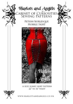 This Hobble skirt sewing pattern is designed by Harlots and Angels Corsetry and has been crafted to be a perfect and comfortable fit for all