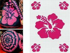 Worki mochilla i wayuu Crochet Shell Stitch, Crochet Chart, Crochet Motif, Knit Crochet, Tapestry Crochet Patterns, Crochet Stitches Patterns, Cross Stitch Patterns, Knitting Patterns, Mochila Crochet