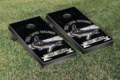 South Carolina Beaufort Sand Sharks Rustic Established Banner Cornhole Game