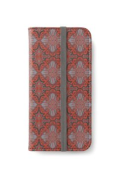 """""""""""Sliced pomegranat"""" organic forms, bohemian pattern, terracotta and grey tones"""" iPhone Wallets by clipsocallipso 
