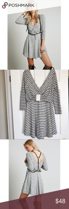 NWOT Free People Maverick Knit Dress Spring forward with this flattering cutie. Size medium. Runs large. Ideal for 6/8, even a 10 due to the stretch. Free People Dresses