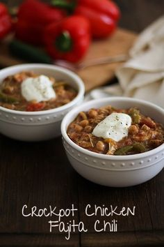Crockpot Chicken Fajita Chili | Bob's Red Mill + The Roasted Root