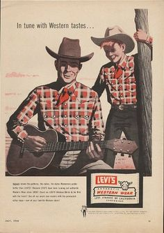 Levi's Western wear Advertising, 1958