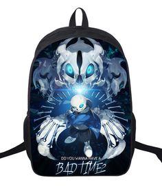 16 Inch Undertale Printing Backpack Boys Girls School Bags Men Women Daily Backpack  Children Bookbag Shoulder afbc0161c8ded