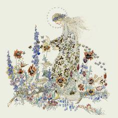 Beauty in Beast's Garden, Jessie M. King art print