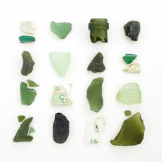 shades of green - sea glass