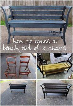 DIY un banco con dos sillas