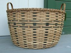 large round laundry basket