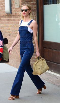 Kate Bosworth in overalls.