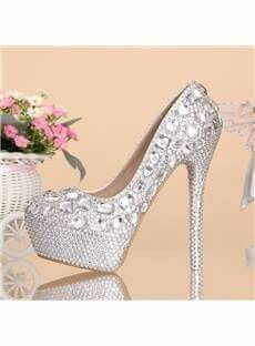 15 Best Beautiful Crystal Shoes Wedding Pumps Bridal Heels images ... 3332e8731736