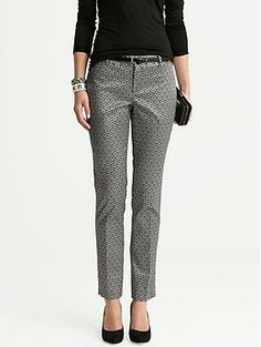 banana republic Camden-Fit Jacquard Skinny Ankle Pant on Wantering Business Attire, Business Fashion, Office Outfits, Casual Outfits, Sara Anderson, Pants For Women, Clothes For Women, Pants Outfit, Women's Dress Pants