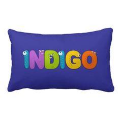 Indigo - animal alphabet throw pillow