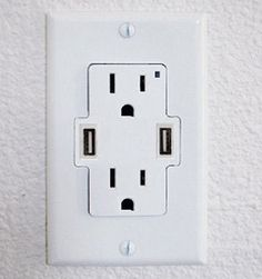 Add USB ports to your wall outlets.