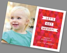 Kleinfeld Paper || Geometric and Jolly Holiday Photo Card