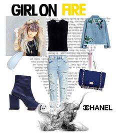 """""""Girl on FIRE"""" by miheil-rihterr ❤ liked on Polyvore featuring H&M, A.L.C., Toga, Chanel, Spring, fashionset, polyvorefashion and yoins"""