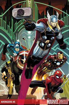 Avengers, gran còmic y si está spiderman mejor que mejor.