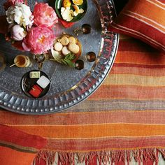 spicy reds   West Elm styling